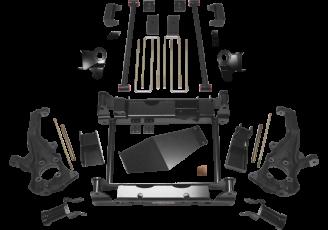 2018 - 2011 Chevy Silverado / GMC Sierra 2500HD 4WD - 4-in. Torsion Bar Relocation System - Black - RS6554B