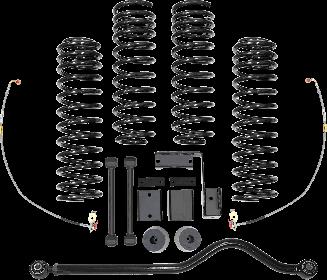 2018 - 2007 Jeep Wrangler JK 2/4 Door - 3-3.5-in. Progressive Sport System - Black - RS66110B