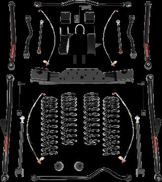 2017 - 2007 Jeep Wrangler JK 2/4 Door - 4-in. Crawler Long Arm System - RS66115B