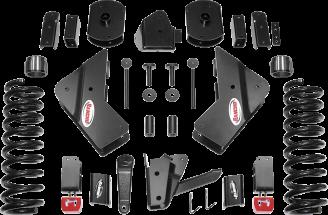 2018 - 2014 Ram 2500 4WD - 4.5-in. Drop Bracket Sport System - Black - RS66452B
