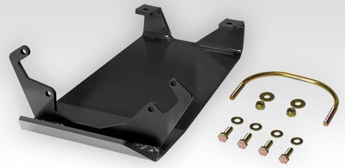 Rear Differential Glide Plate - Dana 44 - Black - rockGEAR™