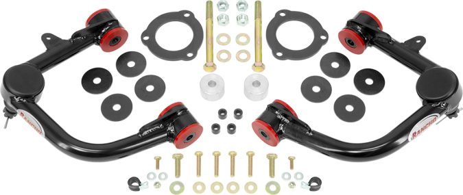 Rancho Performance Upper Control Arm Upgrade Kit - Black - RS64903