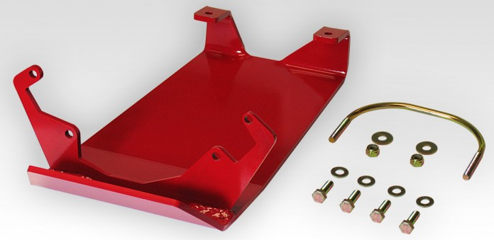 Rear Differential Glide Plate - Dana 44 - Red - rockGEAR™