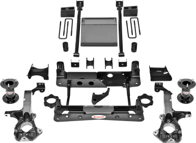 2018 - 2014 Chevy Silverado / GMC Sierra 1500 4WD - O.E. Steel Knuckles - 6-in. Suspension System - Black - RS66301B