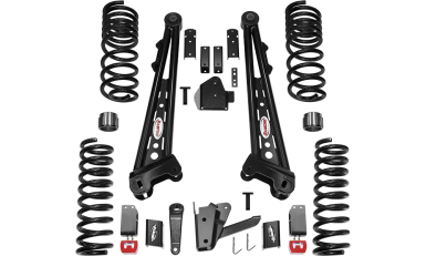 2017 - 2014 Dodge Ram 2500 4WD - 4.5-in. Competition Radius Arm System - Black - RS66453B