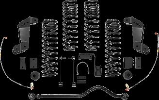 2018 - 2007 Jeep Wrangler JK 2/4 Door - 4-in. Sport System - Black - RS66102B