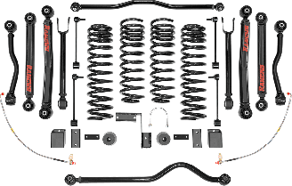 2018 - 2007 Jeep Wrangler JK 2/4 Door - 4-in. Crawler Short Arm System - RS66114B