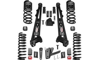 2018 - 2014 Dodge Ram 2500 4WD - 4.5-in. Competition Radius Arm System - Black - RS66453B