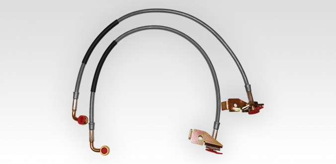 Extended Length Brake Lines - 24.5-INCH - Front - rockGEAR™