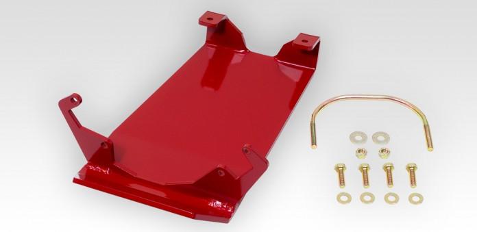 Rear Differential Glide Plate - Dana 44 - Red - rockGEAR™