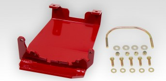 Front Differential Glide Plate - Dana 30 - Red - rockGEAR™