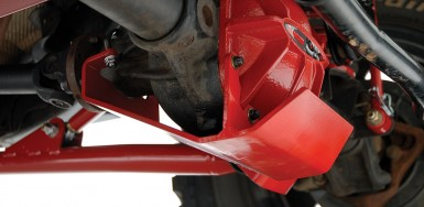 Front Differential Glide Plate - Dana 44 - Red - rockGEAR™