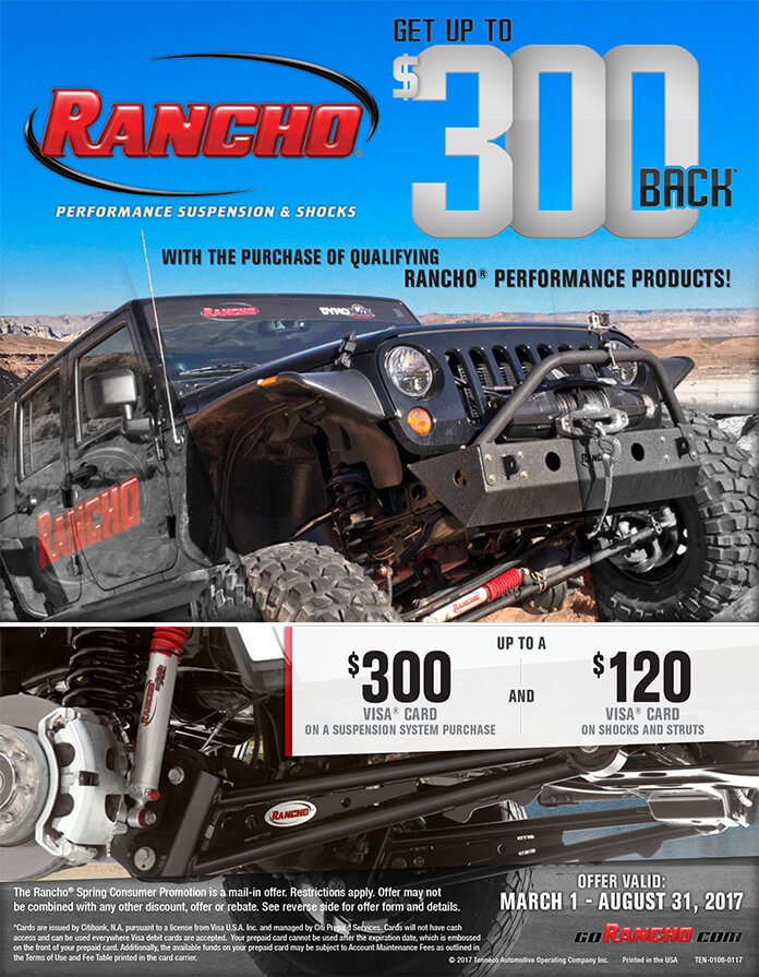 RANCHO® SPRING CONSUMER PROMOTION