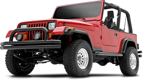 1996 - 1986 Jeep Wrangler YJ 4WD - 2.5-in. Suspension Hardware Kit - Red - RS6444