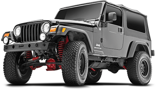 2006 - 1997 Jeep Wrangler TJ / LJ - 3.5-in. Short Arm System - Red - RS6504