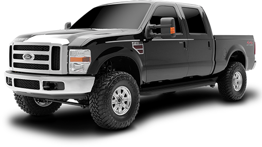 2010 - 2008 Ford F250 / F350 Super Duty 4WD - 4-in. Suspension System - Black - RS6514B