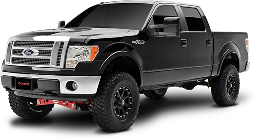 2009 Ford F150 4WD - 4-in. Suspension System - Black - RS6518B