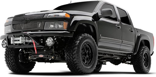 2012 - 2004 Chevy Colorado / GMC Canyon 2/4WD - 4-in. Suspension System - Black - RS6569B