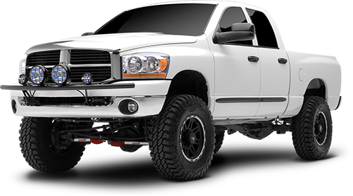 2008 - 2003 Dodge Ram 2500 / 3500 4WD - 4-in. Suspension System