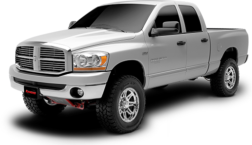 2008 - 2006 Dodge Ram 1500 4WD - 4-in. Suspension System - Black - RS6581B