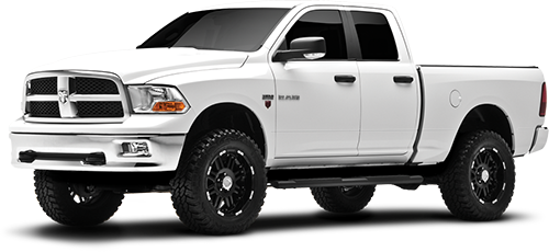 2011 - 2009 Dodge Ram 1500 4WD - 4-in. Suspension System - Black - RS6587B