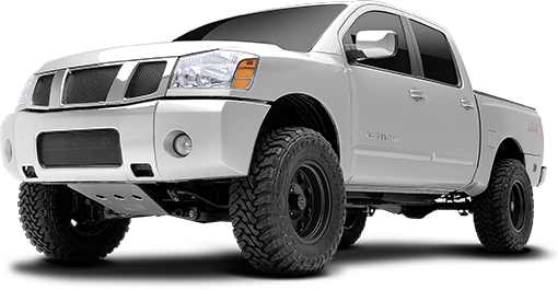 2015 - 2004 Nissan Titan 4WD - 4-in. Suspension System - Black - RS6594B