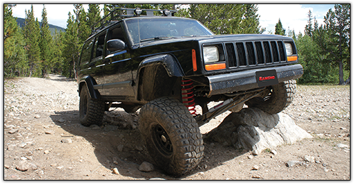2001 - 1984 Jeep Cherokee XJ - Dana 35 Rear Axle - 2.5-in. Suspension System - Red - RS66001