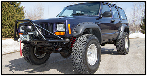 2001 - 1984 Jeep Cherokee XJ - O.E. Dana Rear Axle - 3.5-in. Suspension System - RS66003