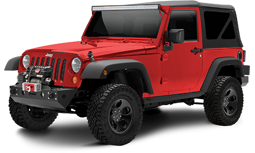 2016 - 2007 Jeep Wrangler JK 2 Door - 2-in. Sport System w/RS5000X Shocks - Black - RS66108BR5