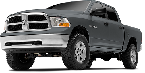 2016 - 2013 Dodge Ram 1500 4WD - 4-in. Suspension System - Black - RS66401B