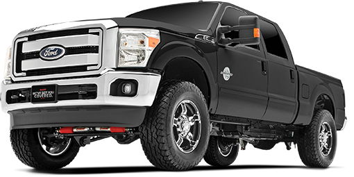 2016 - 2011 Ford F250 / F350 Super Duty 4WD - 4-in. Drop Bracket Sport System - Black - RS66551B